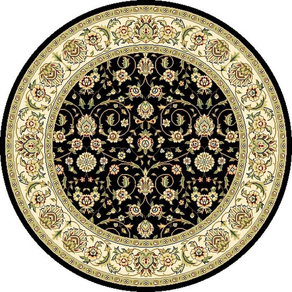 Safavieh Lyndhurst Black/Ivory 5 ft. 3 in. x 5 ft. 3 in. Round Area Rug