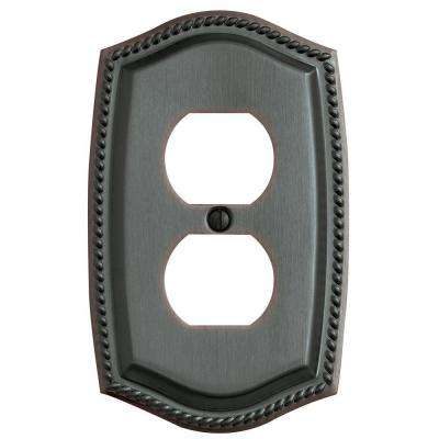 Rope 1 Outlet Wall Plate - Venetian Bronze