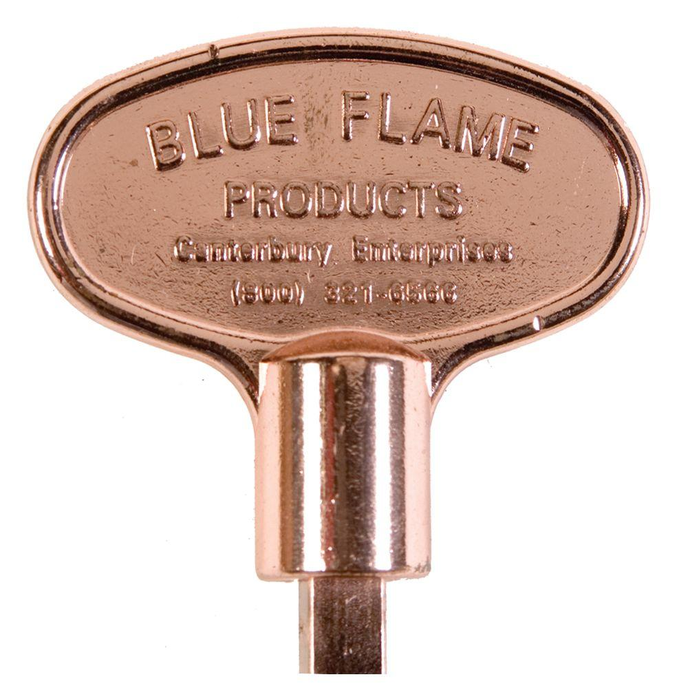 8 in. Universal Gas Valve Key in Polished Copper