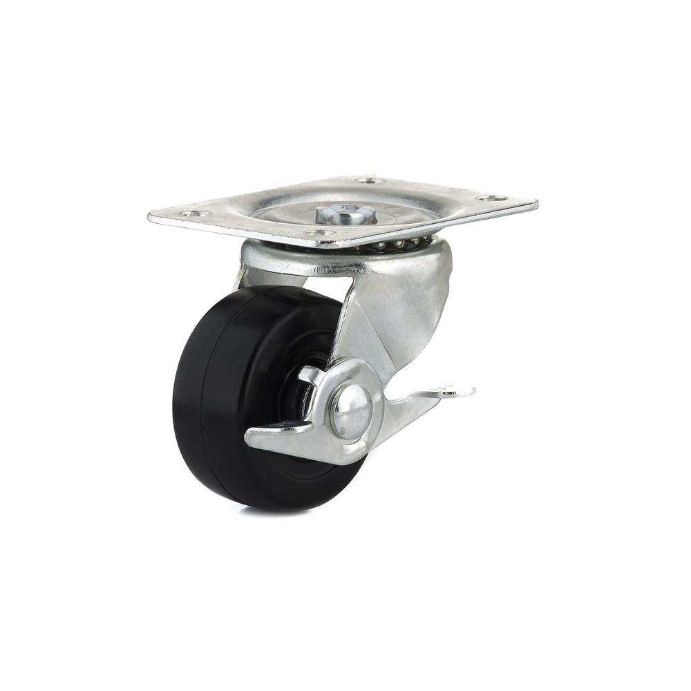 2-1/2 in. General-Duty Rubber Swivel Caster with Brake