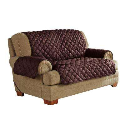 Chocolate Ultimate Waterproof Furniture Protector Treated with NeverWet Loveseat