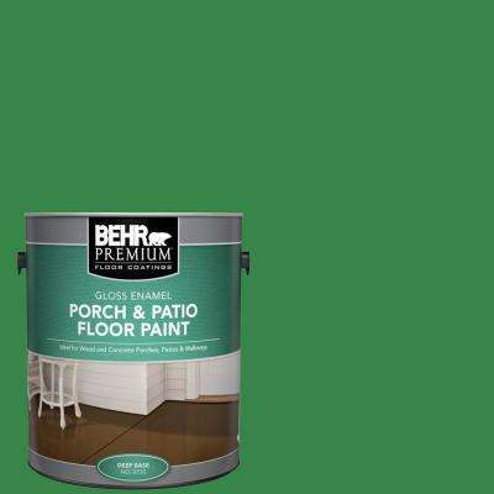 1 gal. #450B-7 Green Grass Gloss Enamel Interior/Exterior Porch and Patio Floor Paint