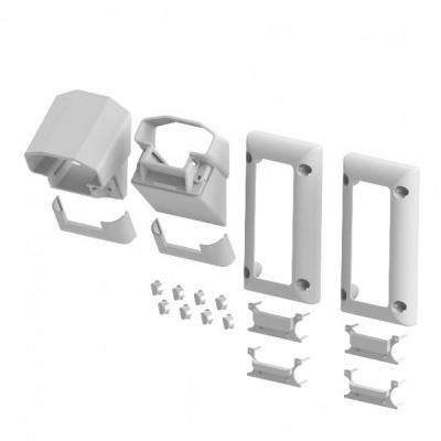 Original Rail White Vinyl Stair Mounting Bracket Kit (2-Pair)