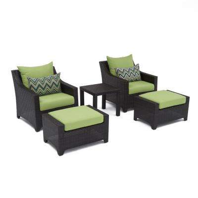Deco 5-Piece Patio Chat Set with Ginkgo Green Cushions
