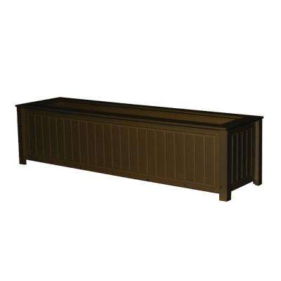 North Hampton 48 in. x 12 in. Brown Recycled Plastic Commercial Grade Planter Box