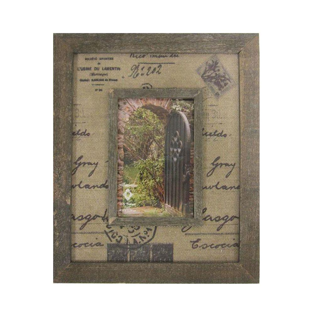 Home Decorators Collection 4 in. x 6 in. Marseilles Natural Script Design Picture Frame