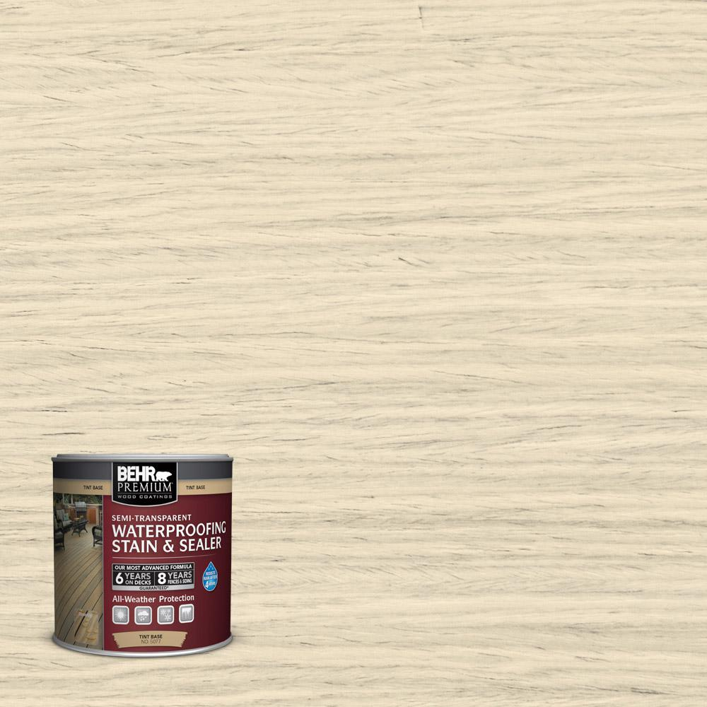 St 157 Navajo White Semi Transpa Waterproofing Exterior Wood Stain And Sealer Sample