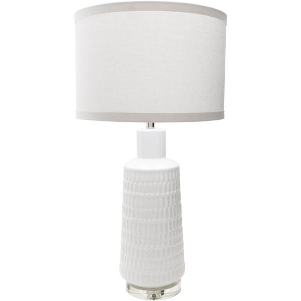 Mendez 35 in. White Indoor Table Lamp