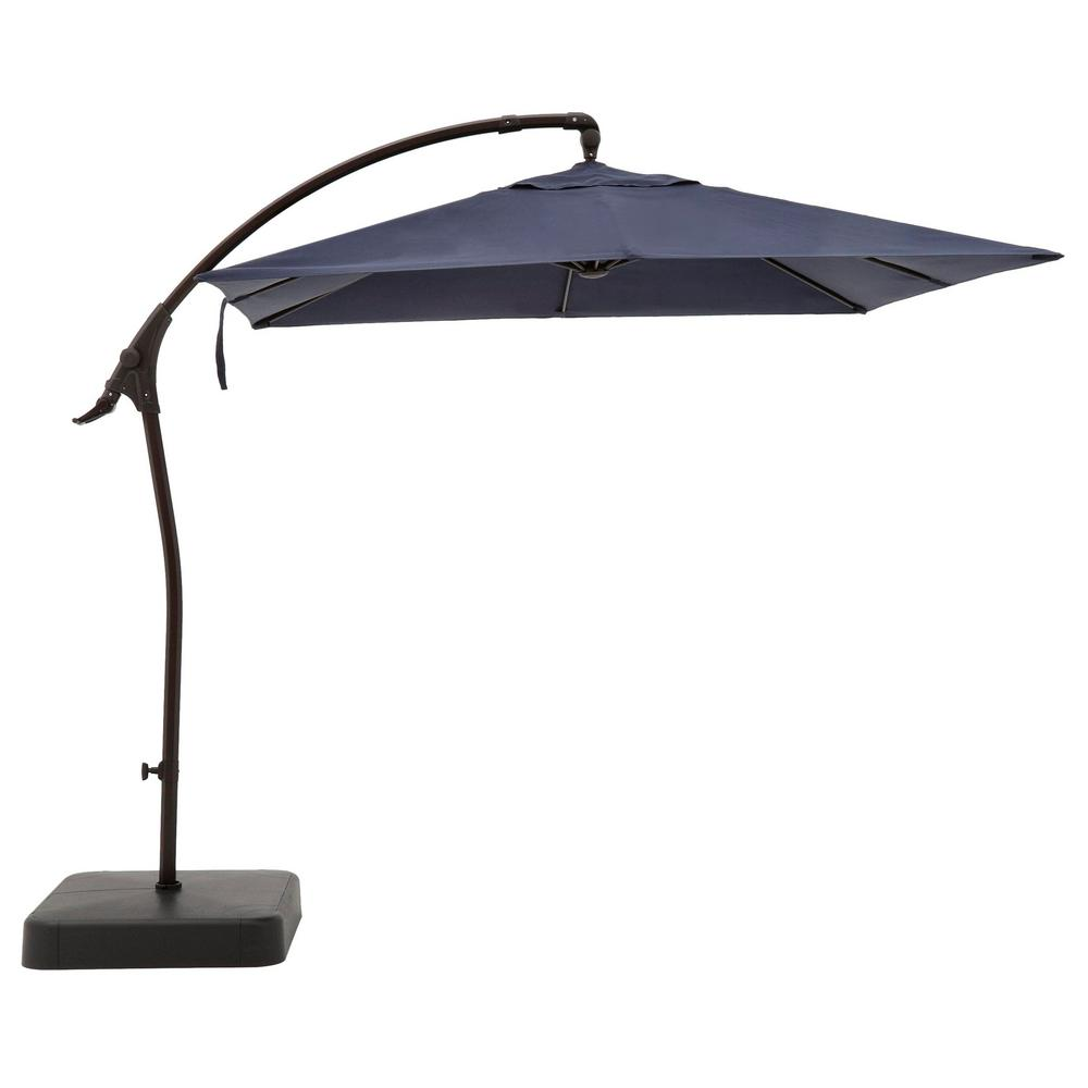 Hampton Bay 8 ft. Square Aluminum Cantilever Offset Outdoor Patio Umbrella in Midnight Navy Blue was $299.0 now $199.0 (33.0% off)