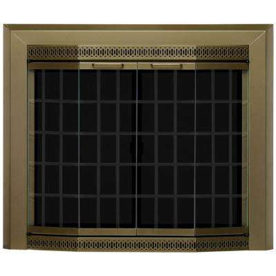 Grandior Bay Large Glass Fireplace Doors