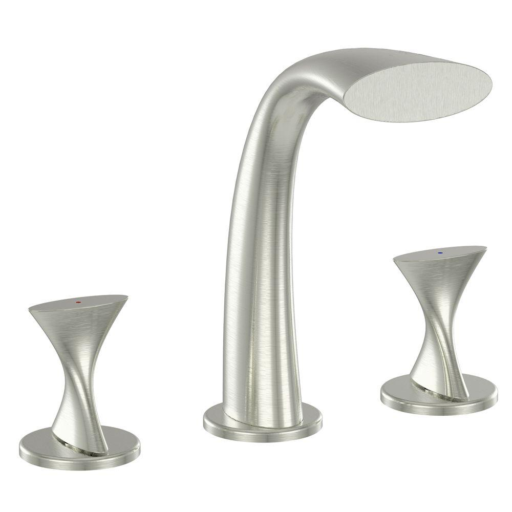 Fontaine Adelais 2-Handle Deck-Mount Roman Tub Faucet in Brushed Nickel