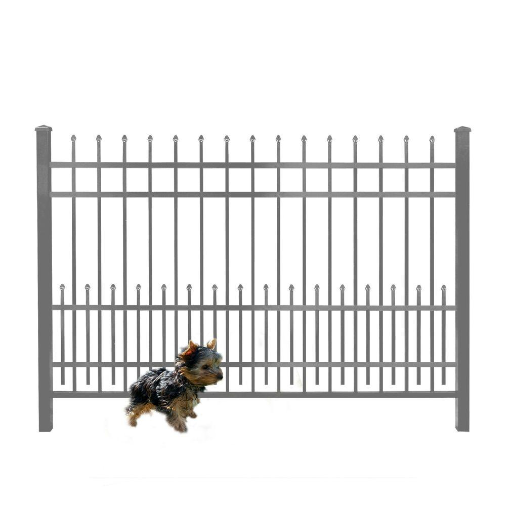 3/4 in. x 1.5 ft. x 6 ft. Bronze Aluminum Fence Puppy Gua...