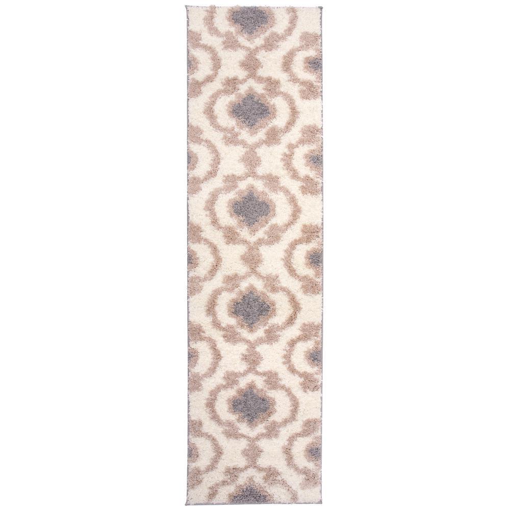 World Rug Gallery Cozy Moroccan Trellis 2525 Cream 24 Quot X