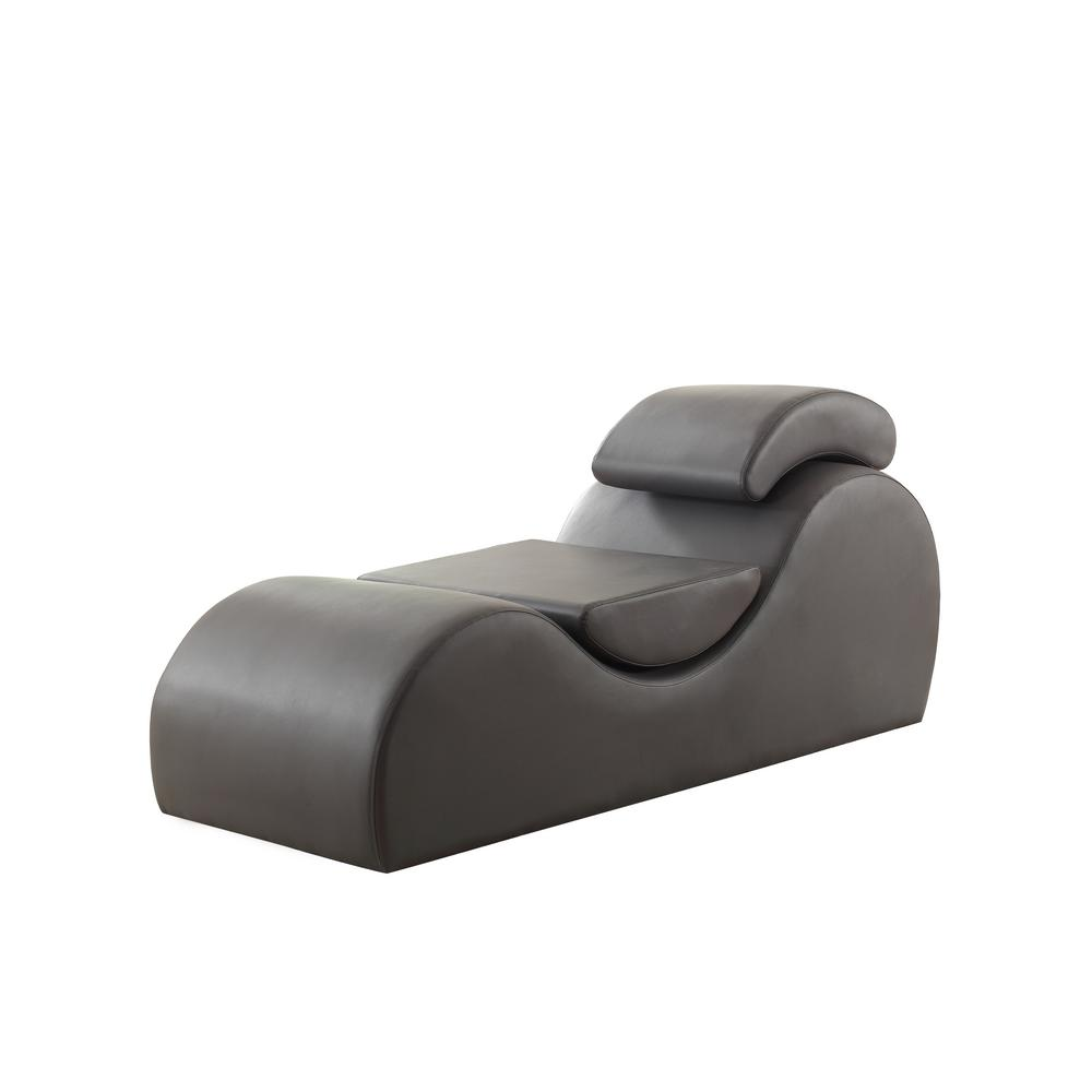 Wondrous Braflin Gray Faux Leather Stretch Chaise Lounge Relaxation Yoga Chair Dailytribune Chair Design For Home Dailytribuneorg