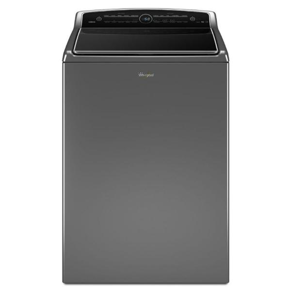 Whirlpool Cabrio WTW8500DC - Washing machine - freestanding - width: 28 in - depth: 28 in - height: 43 in - top loading - 5.3 cu. ft - chrome shadow