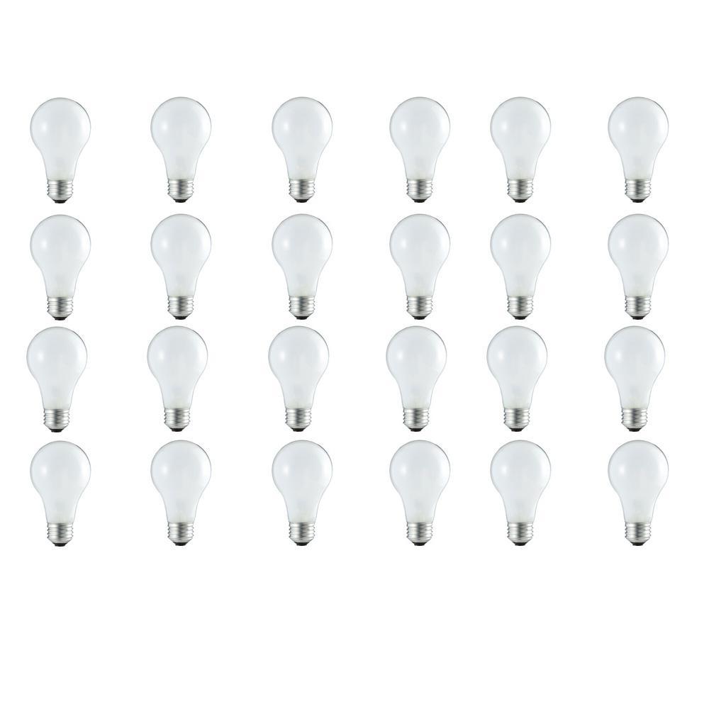 50-Watt Equivalent A19 Dimmable Energy Efficient Halogen Light Bulb Soft White (2920K) (24-Pack)