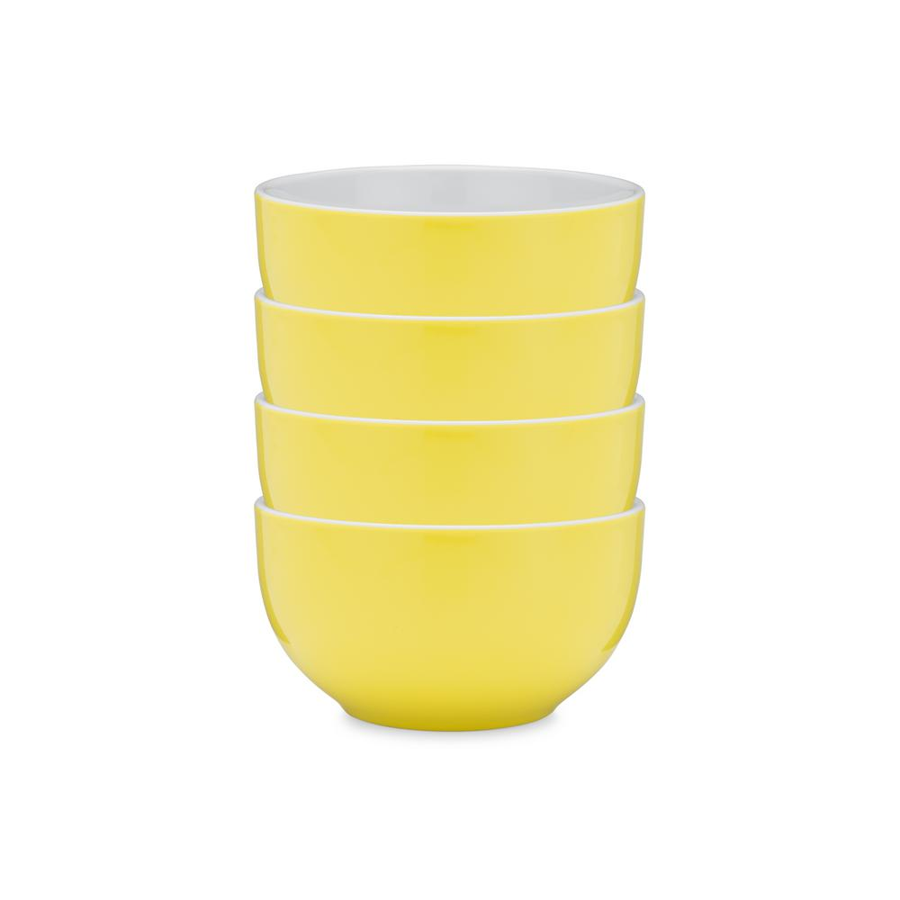 Bistro 4-Piece Yellow Melamine Cereal Bowl Set