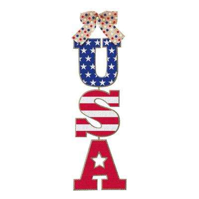 18 in. x 6 in. USA Hanging Sign