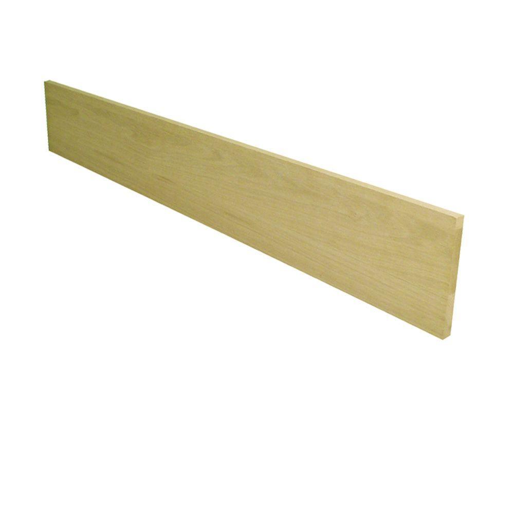 Stairtek .75 in. x 7-1/2 in. x 42 in. Unfinished White Oak Riser