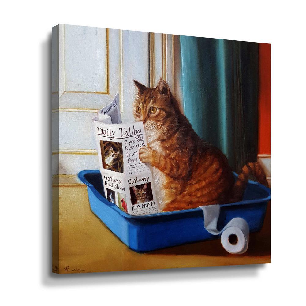 'Kitty throne' by  Lucia Heffernan Canvas Wall Art