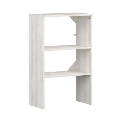 Style+ 15 in. D x 25 in. W x 41 in. H Bleached Walnut 3-Shelf Stackable Base Unit Wood Closet System