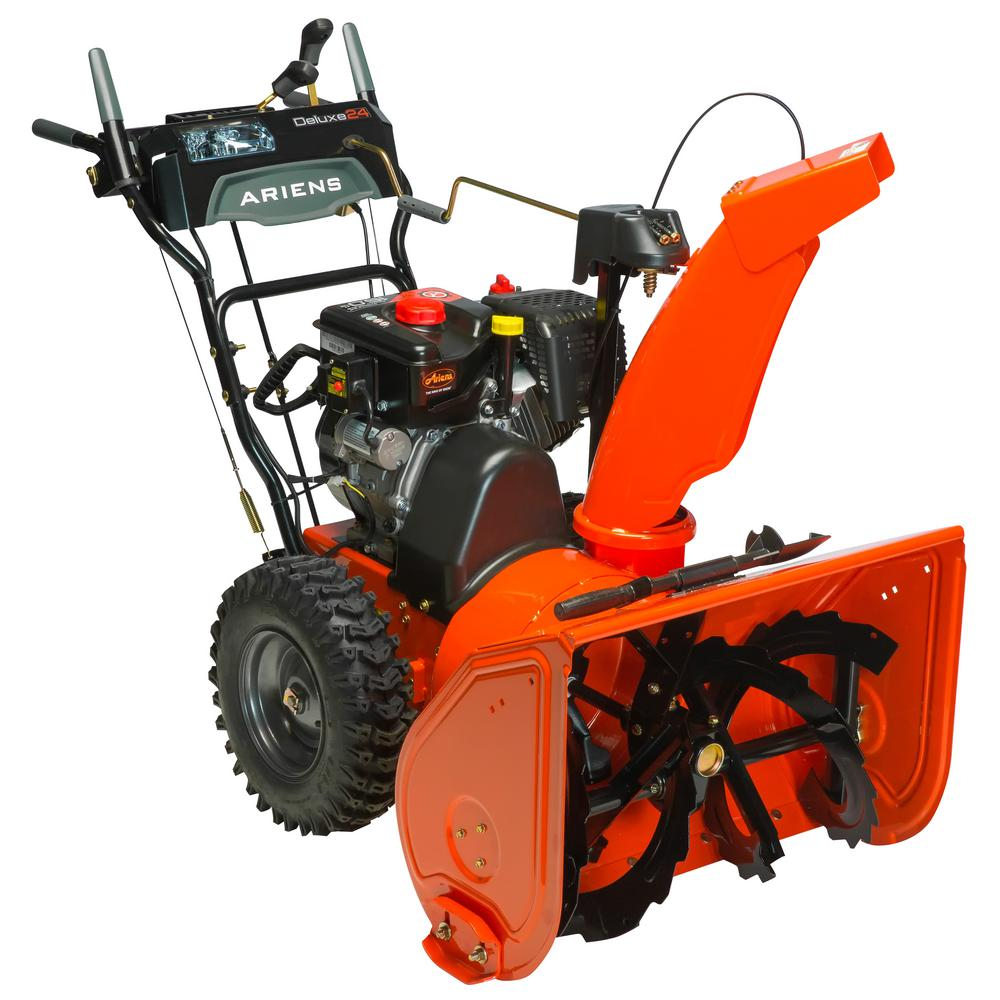Deluxe 24 in. 2-Stage Electric Start Gas Snow Blower with Auto-Turn
