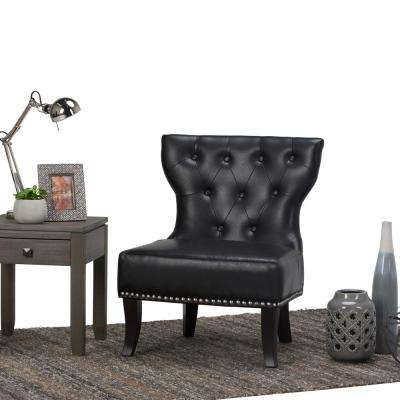 Kitchener Black Bonded Leather Accent Chair