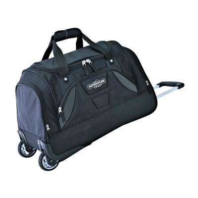 21 in. Black Rolling Duffel