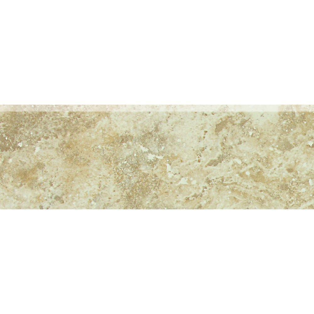 Heathland Raffia 2 in. x 6 in. Glazed Ceramic Bullnose Wall