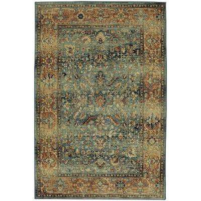 Aksel Blue 8 ft. x 10 ft. Area Rug