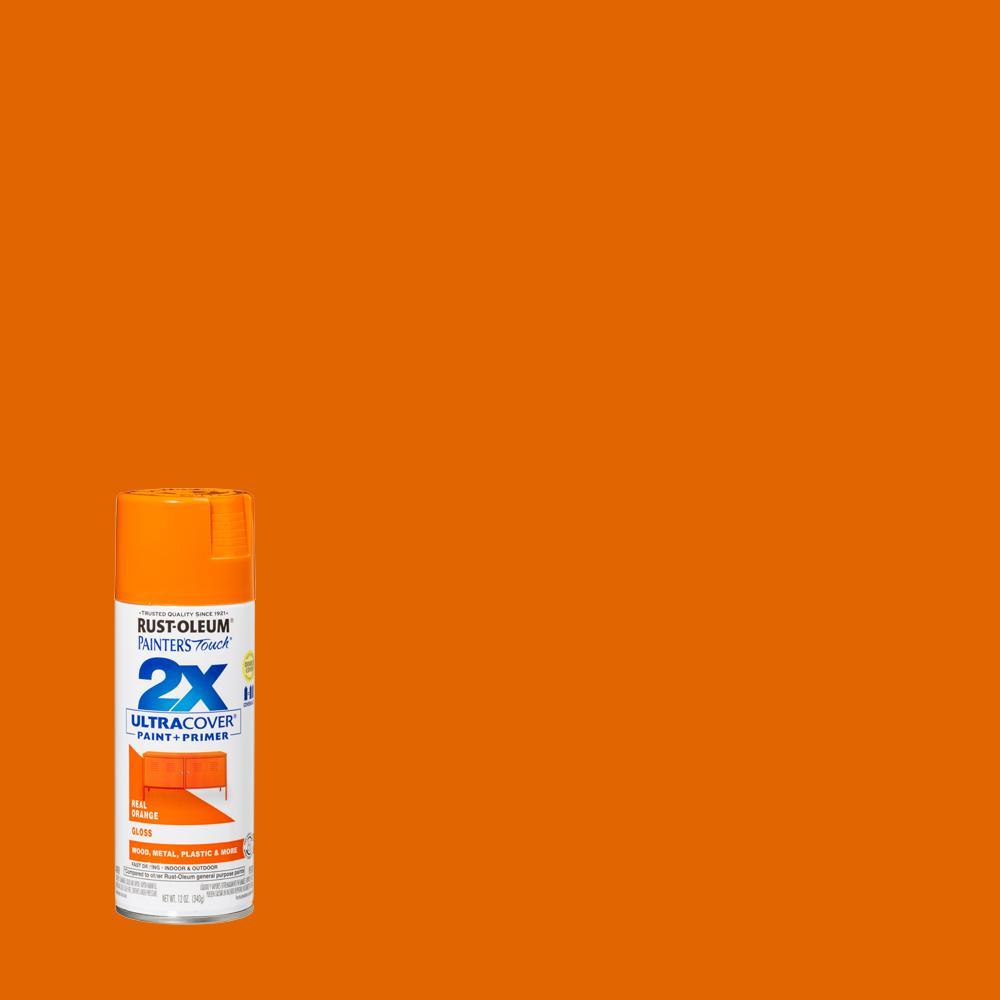 Rust-Oleum Painter's Touch 2X 12 oz. Gloss Real Orange General Purpose Spray Paint