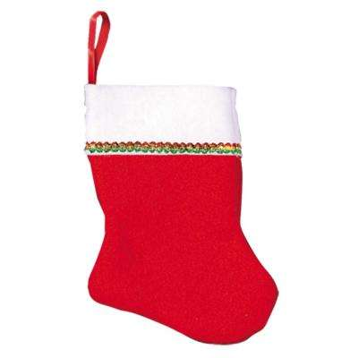 4.25 in. x 3 in. Felt Christmas Stockings (6-Count, 4-Pack)