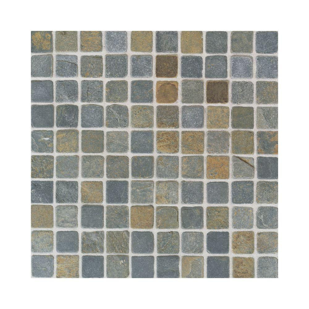 Daltile indian multicolor 12 in x 12 in x 8 mm tumbled slate daltile indian multicolor 12 in x 12 in x 8 mm tumbled slate mosaic dailygadgetfo Images