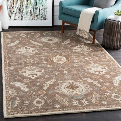 Matthias Olive 2 ft. x 4 ft. Hearth Indoor Area Rug