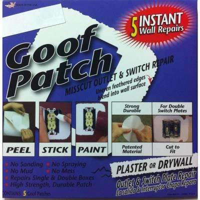 6 in. x 6 in. Self-Adhesive Goof Patch Pre-Textured Mis-Cut Switch and Outlet Wall Patch Repair Kit (100-Pack)