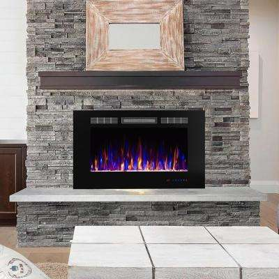 36 in. 400 sq. ft. Electric Fireplace Insert