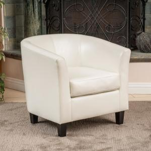Incredible Noble House Preston Ivory Bonded Leather Club Chair 252 Pdpeps Interior Chair Design Pdpepsorg