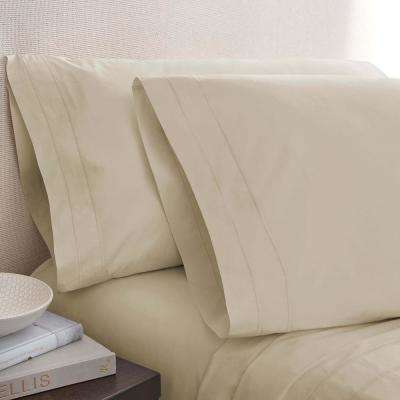 Oat Cotton Twin Pillowcase Pair