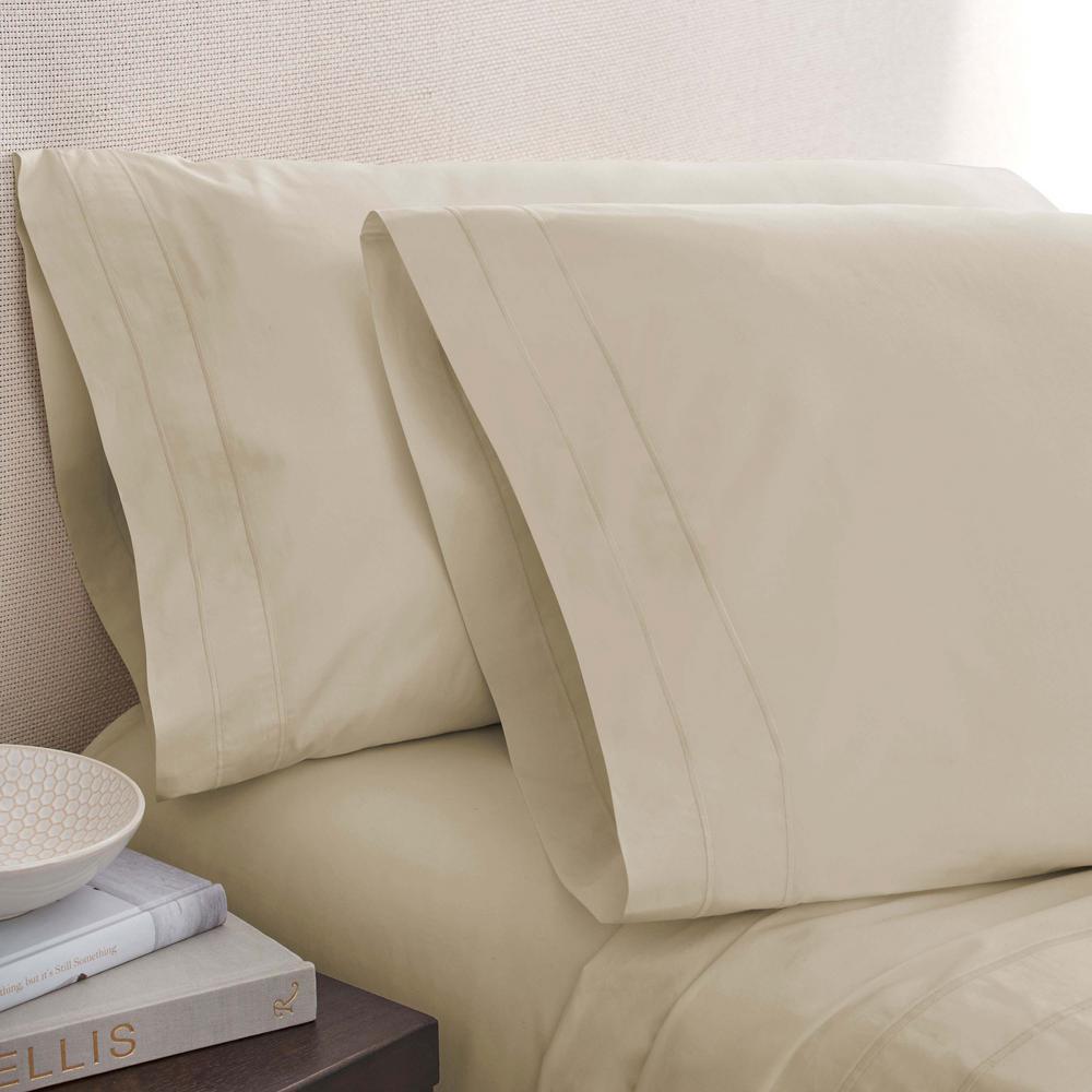 Oat Cotton Twin Pillowcase Pair