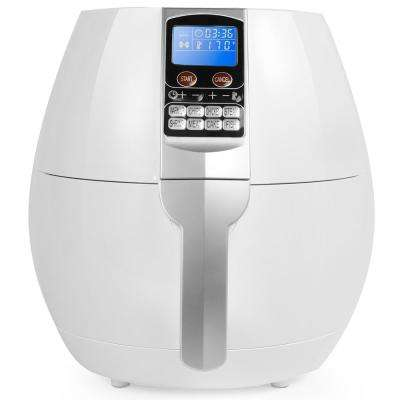 3.7 Qt. Digital Control Panel Programming Air Fryer in White