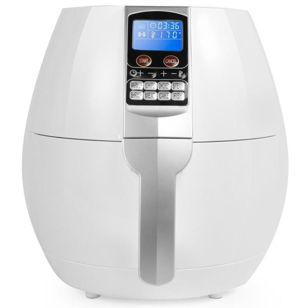 Ensue 3.7 Qt. Digital Control Panel Programming Air Fryer in White