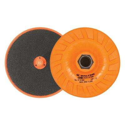 Quick-Step 4.5 in. x 5/8 in. to 11 in. Velcro Backing Pad with Centering Pin