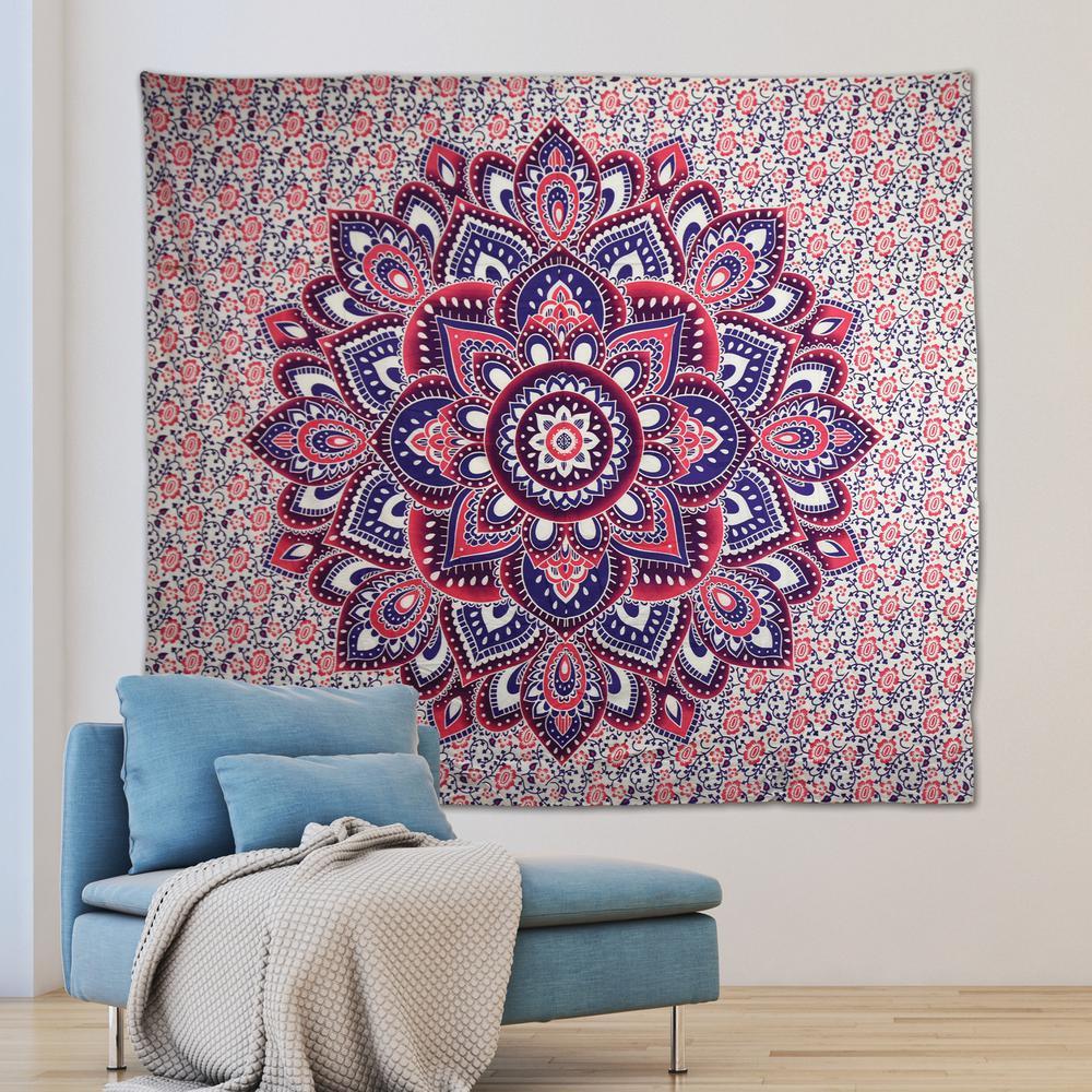 Myra Pink Wall Tapestry