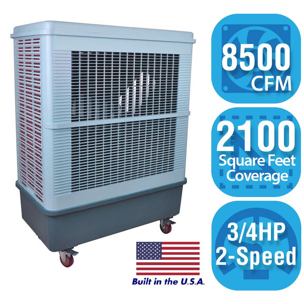 Hessaire 8,500 CFM 2-Speed Portable Evaporative Cooler for 2,100 sq. ft.