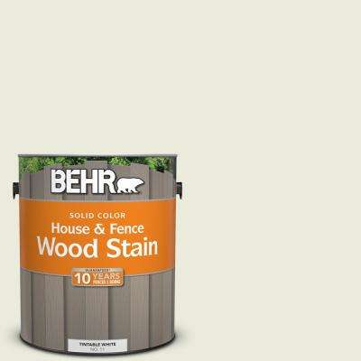 1 gal. #BWC-18 Spring White Solid Color House and Fence Exterior Wood Stain
