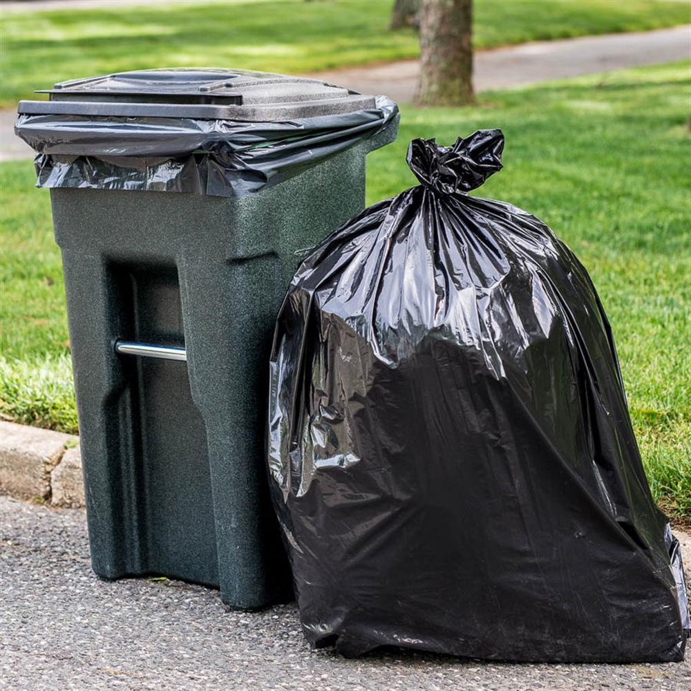61 in. W x 68 in. H 95 Gal. - 96 Gal. 1.2 mil Black Trash Bags or Rolls (50-Case)