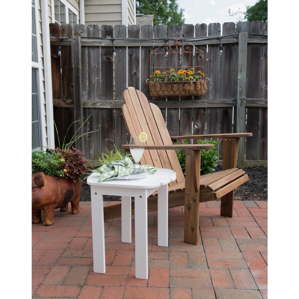 Linon Home Decor Adirondack White Outdoor End Table Thd00453 The Home Depot