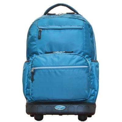 Melody 19 in. Blue Rolling Backpack