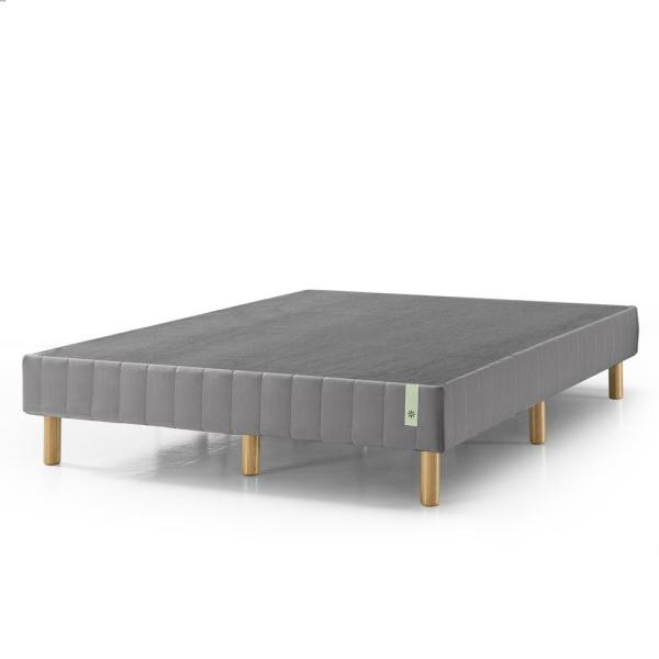 GOOD DESIGN Winner - Justina Grey Queen 14 In. Quick Snap Standing Mattress Foundation