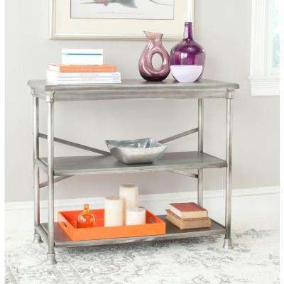 Jacinda Dark Silver Open Bookcase
